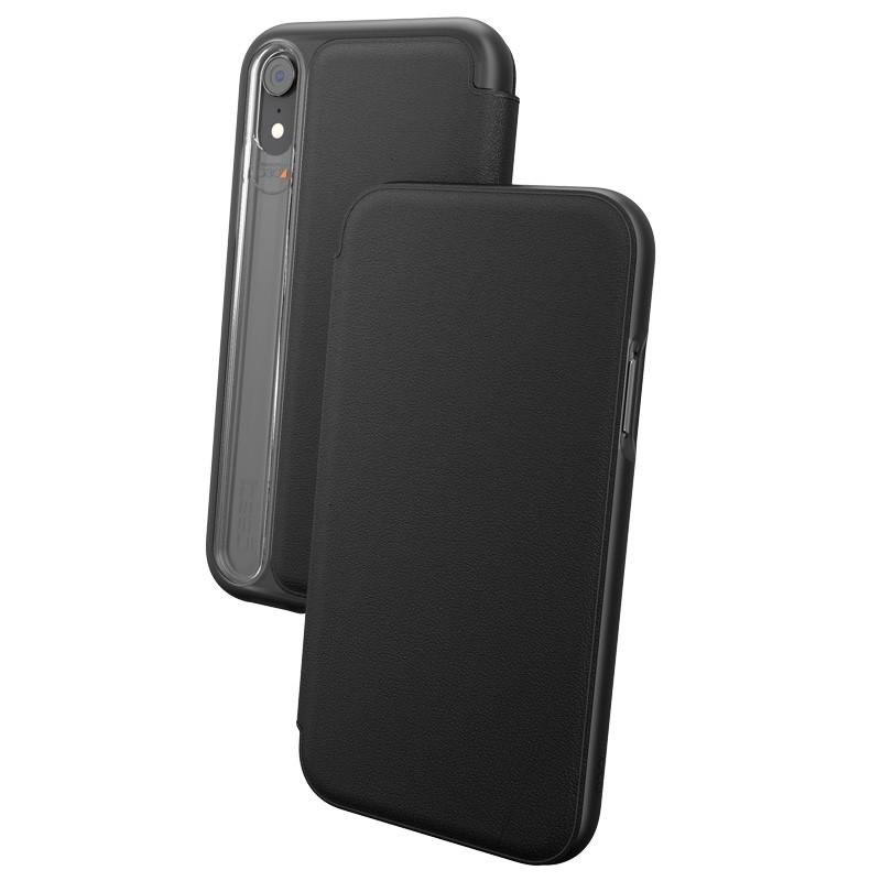 Gear4 Oxford Leather iPhone XR Lederen Hoesje Zwart 03