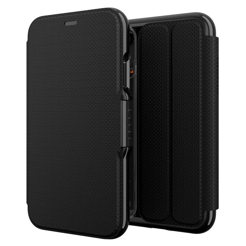 Gear4 Oxford Leather iPhone XR Lederen Hoesje Zwart 05