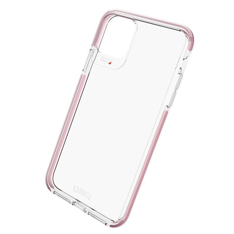 Gear4 Piccadilly iPhone 11 Pro Hoesje Roze transparant 01