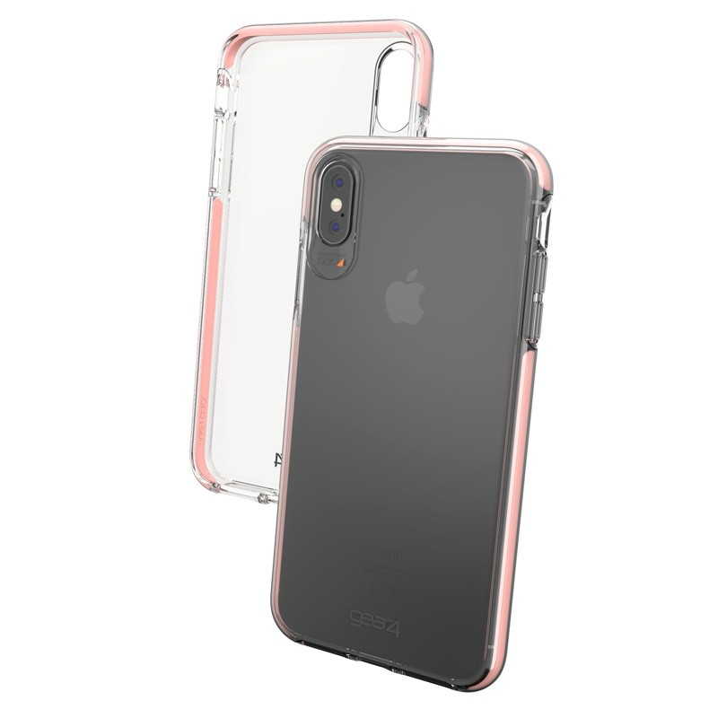Gear4 Piccadilly voor Apple iPhone XS Max Roze/Transparant 05