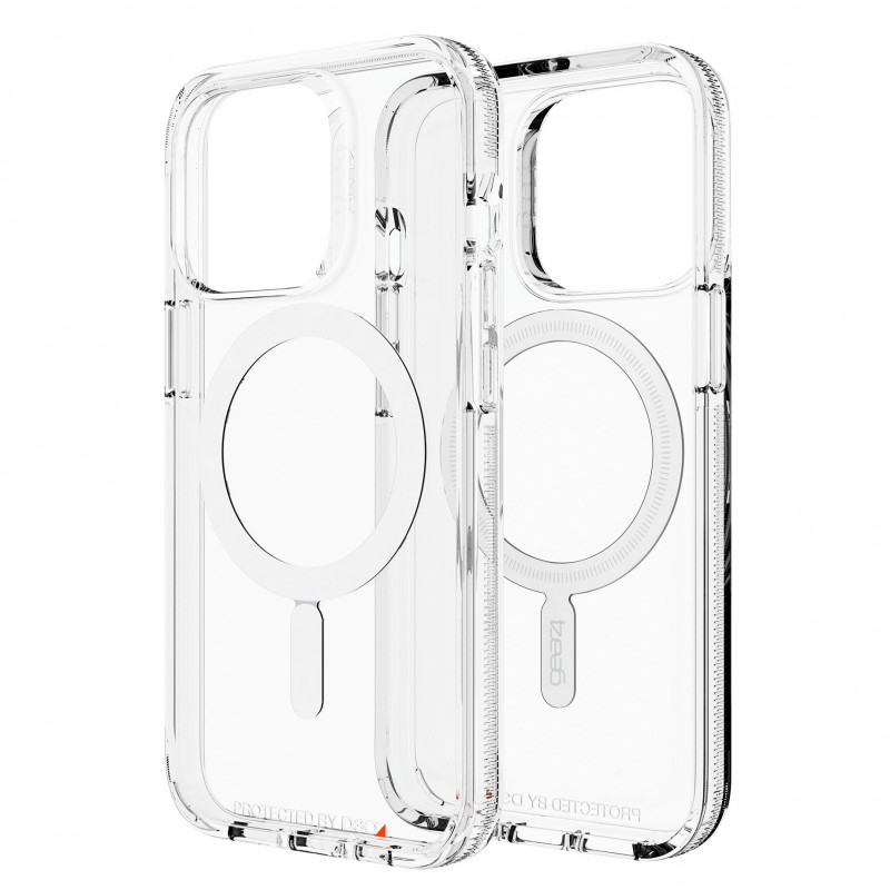 Gear4 Crystal Palace Snap iPhone 13 Pro MagSafe Hoesje Clear 01