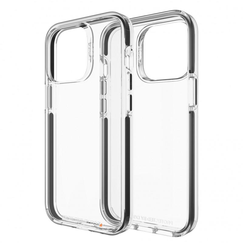 Gear4 Santa Cruz iPhone 13 Pro Hoesje Clear Black 01