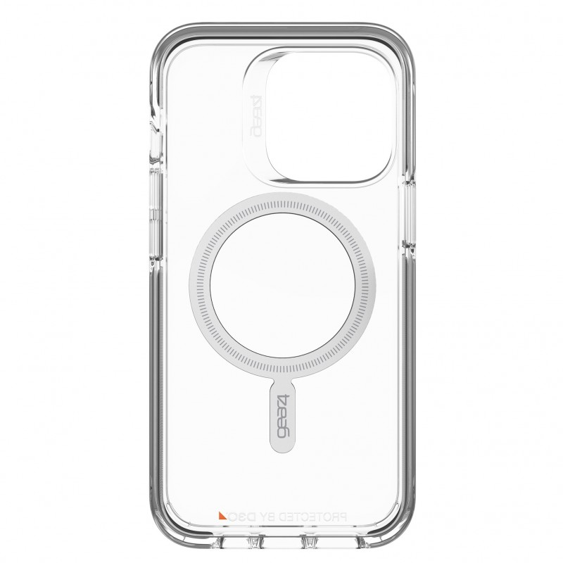 Gear4 Santa Cruz Snap MagSafe iPhone 13 Pro Hoesje Clear Black 05