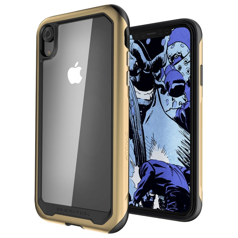 Gostek Atomic Slim 2 iPhone XR Goud/Transparant - 1