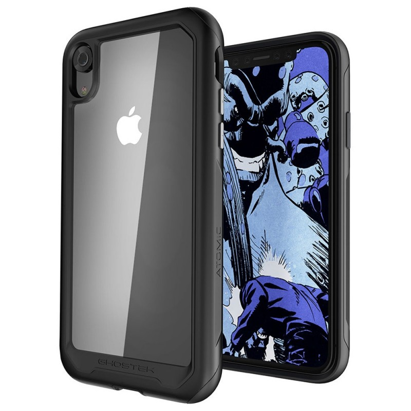 Gostek Atomic Slim 2 iPhone XR Rood/Transparant - 1