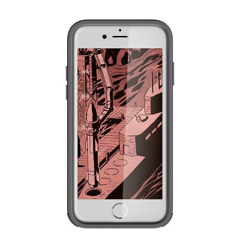 Ghostek Atomic Slim Rugged Case iPhone 8/7 rood / transparant 01
