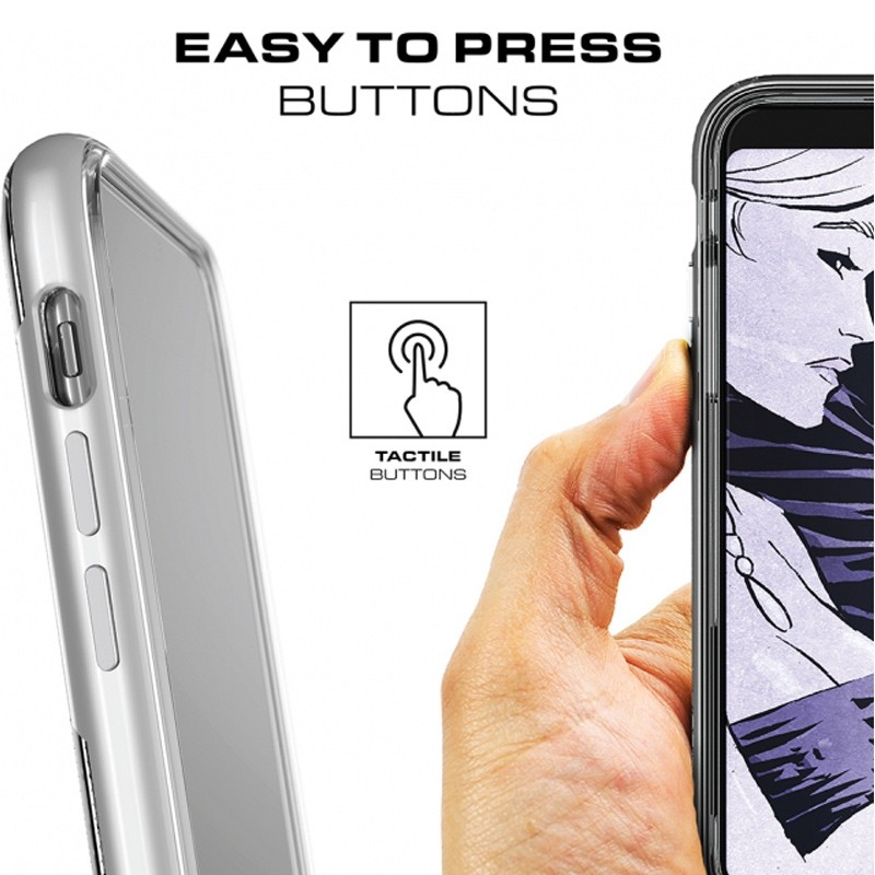 Ghostek Cloak 3 Case iPhone X/Xs zilver 06