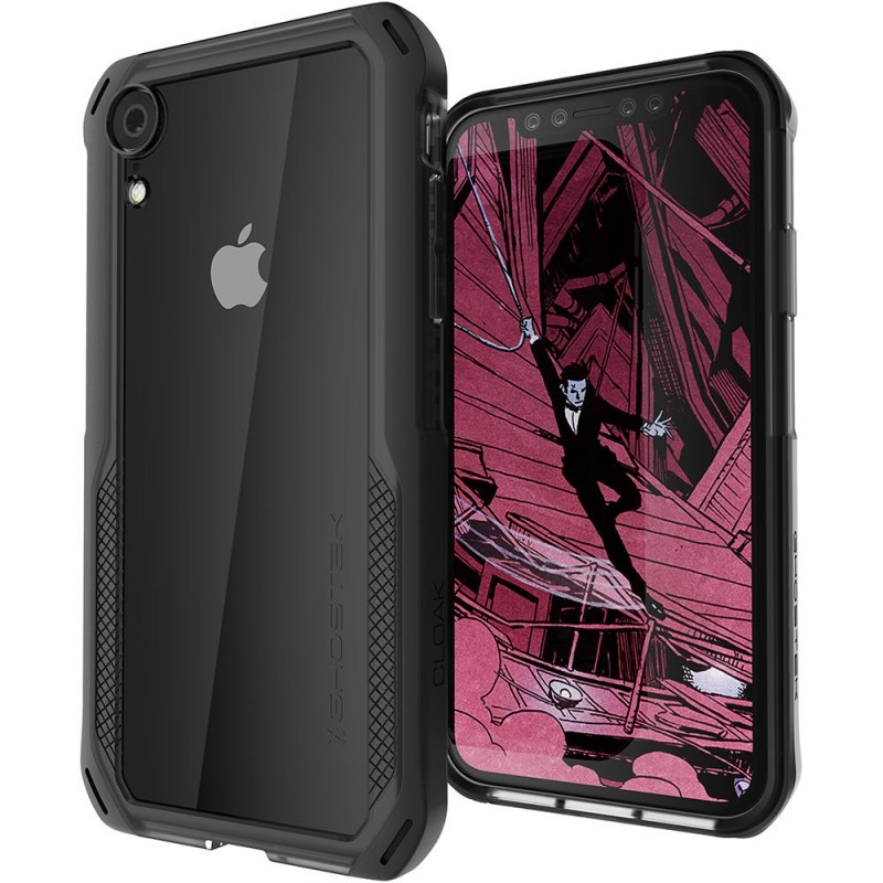 Ghostek Cloak 4 iPhone XR Hoesje Zwart/Transparant - 1