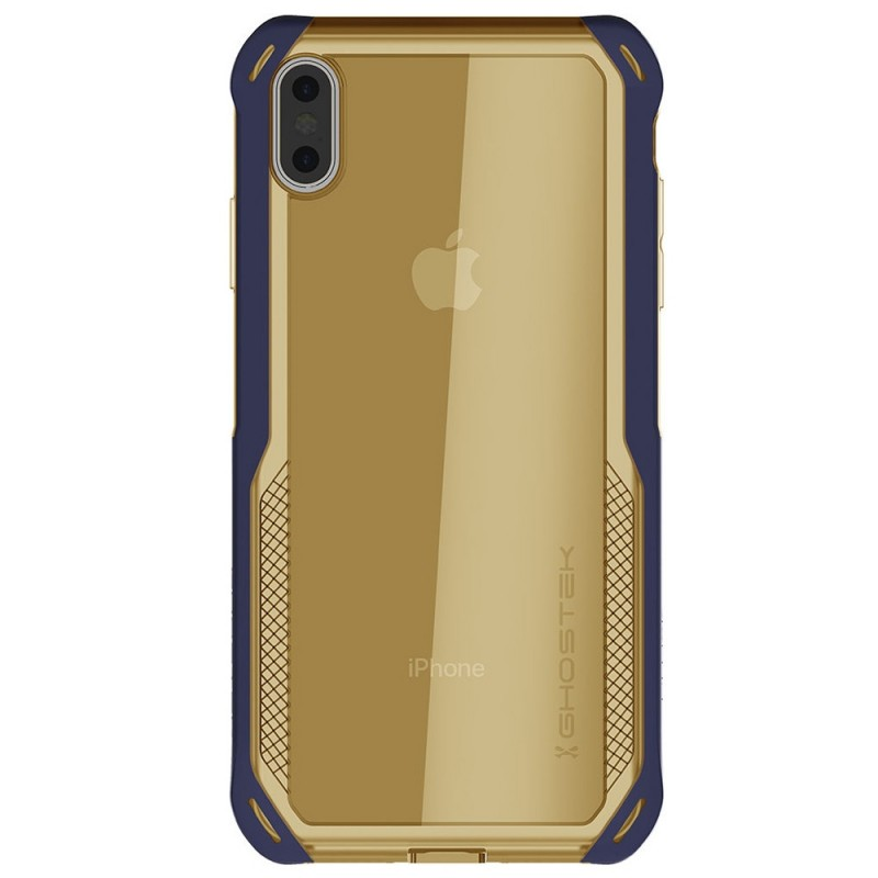 Ghostek Cloak 4 iPhone XS Max Blauw/Goud - 2