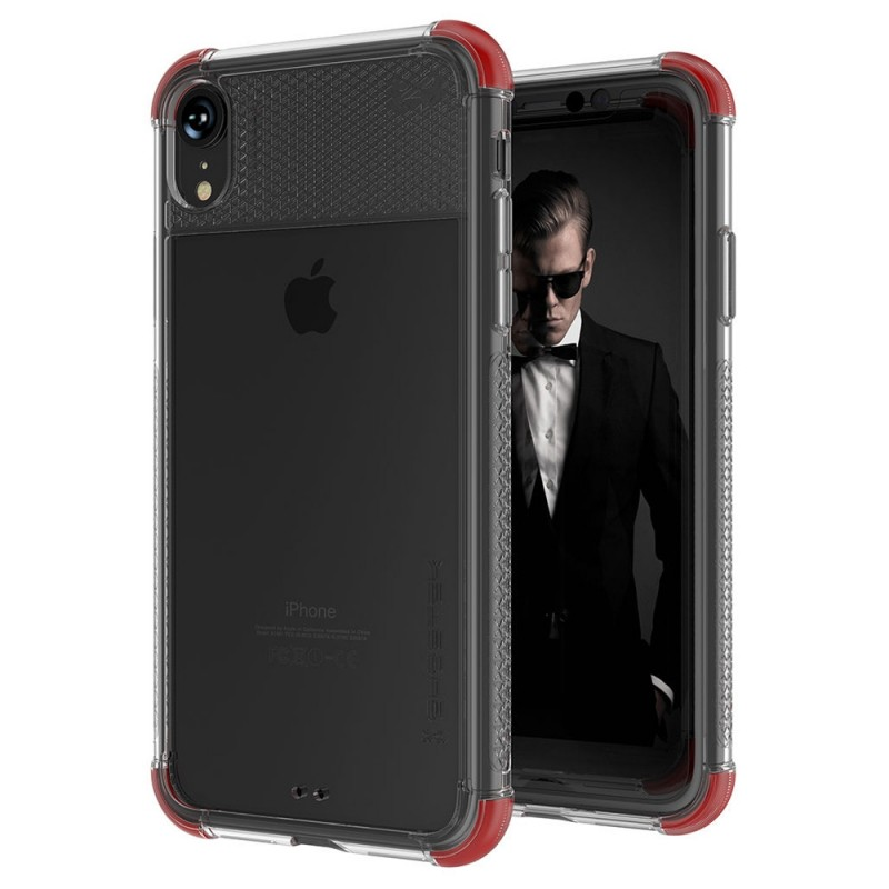 Gostek Cover 2 iPhone XR Rood/Transparant - 1