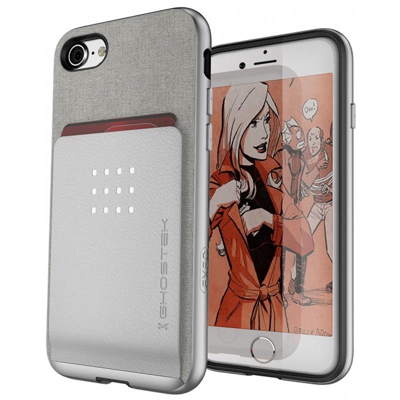 Ghostek Exec 2 Protetive Wallet iPhone 8/7 Zilver 01