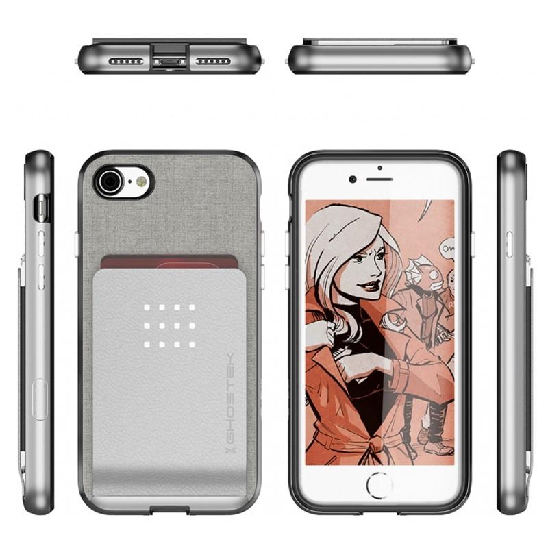 Ghostek Exec 2 Protetive Wallet iPhone 8/7 Zilver 02