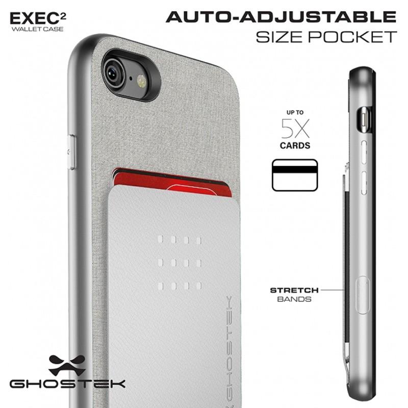 Ghostek Exec 2 Protetive Wallet iPhone 8/7 Zilver 06