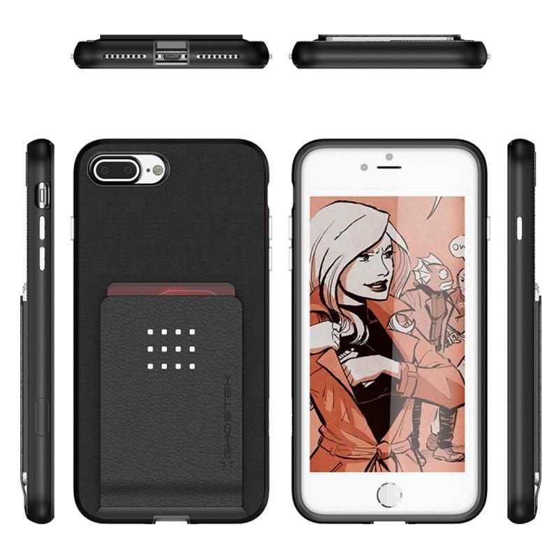 Ghostek Exec 2 Wallet Case iPhone 8 Plus/7 Plus Zwart 02