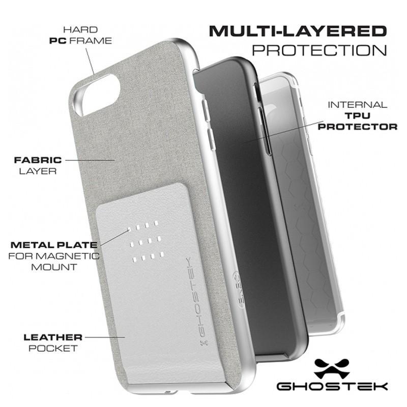 Ghostek Exec 2 Wallet Case iPhone 8 Plus/7 Plus Zwart 04