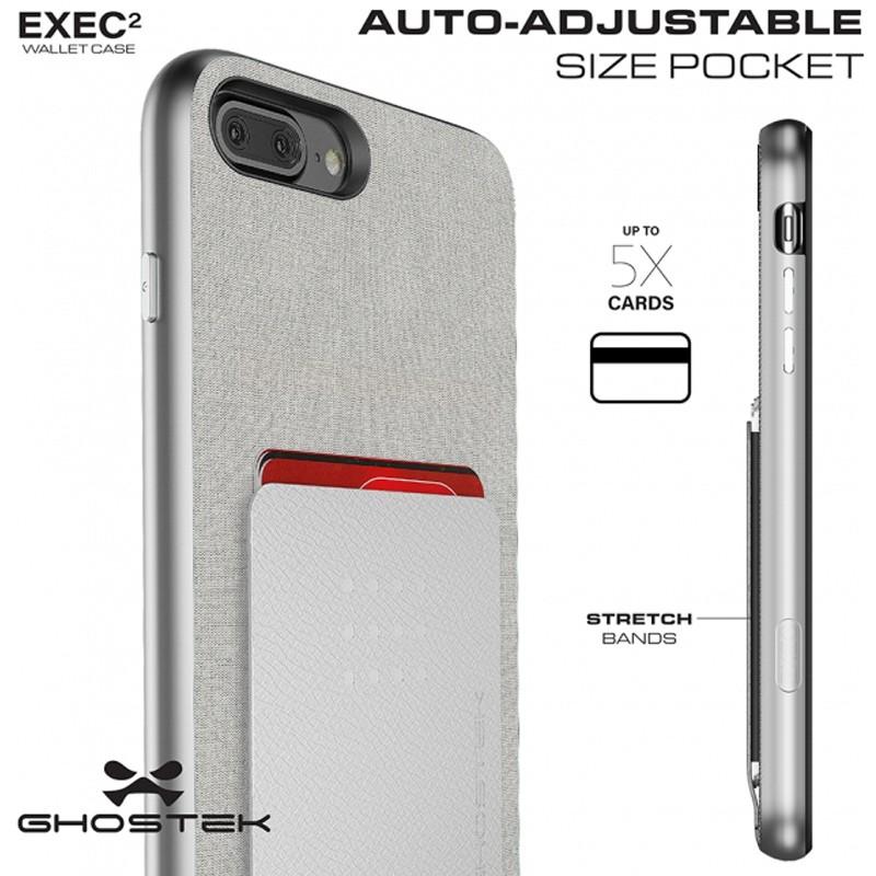 Ghostek Exec 2 Wallet Case iPhone 8 Plus/7 Plus Zwart 08