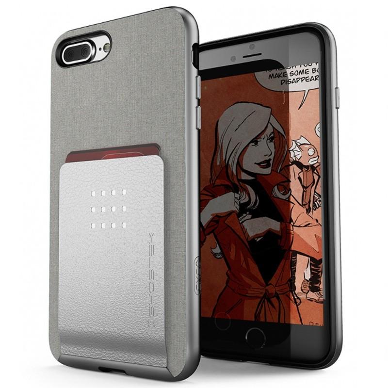Ghostek Exec 2 Wallet Case iPhone 8 Plus/7 Plus Zilver 01
