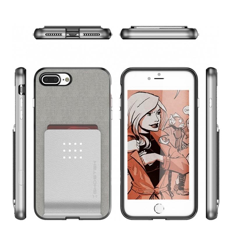 Ghostek Exec 2 Wallet Case iPhone 8 Plus/7 Plus Zilver 02