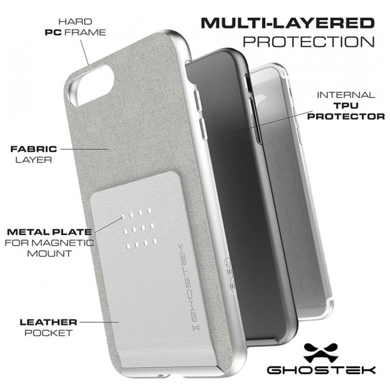 Ghostek Exec 2 Wallet Case iPhone 8 Plus/7 Plus Zilver 05