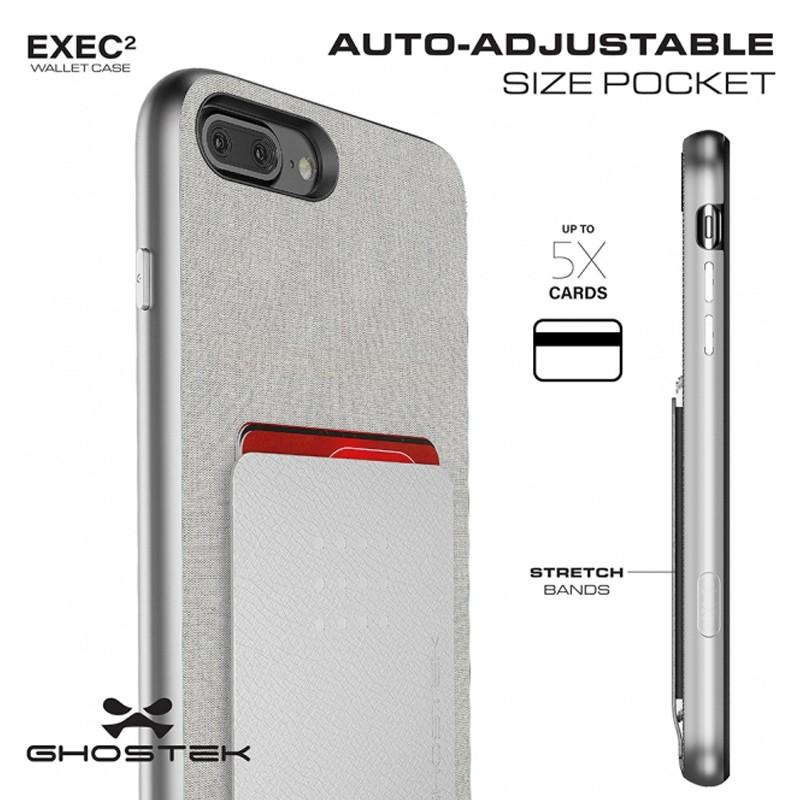 Ghostek Exec 2 Wallet Case iPhone 8 Plus/7 Plus Zilver 07