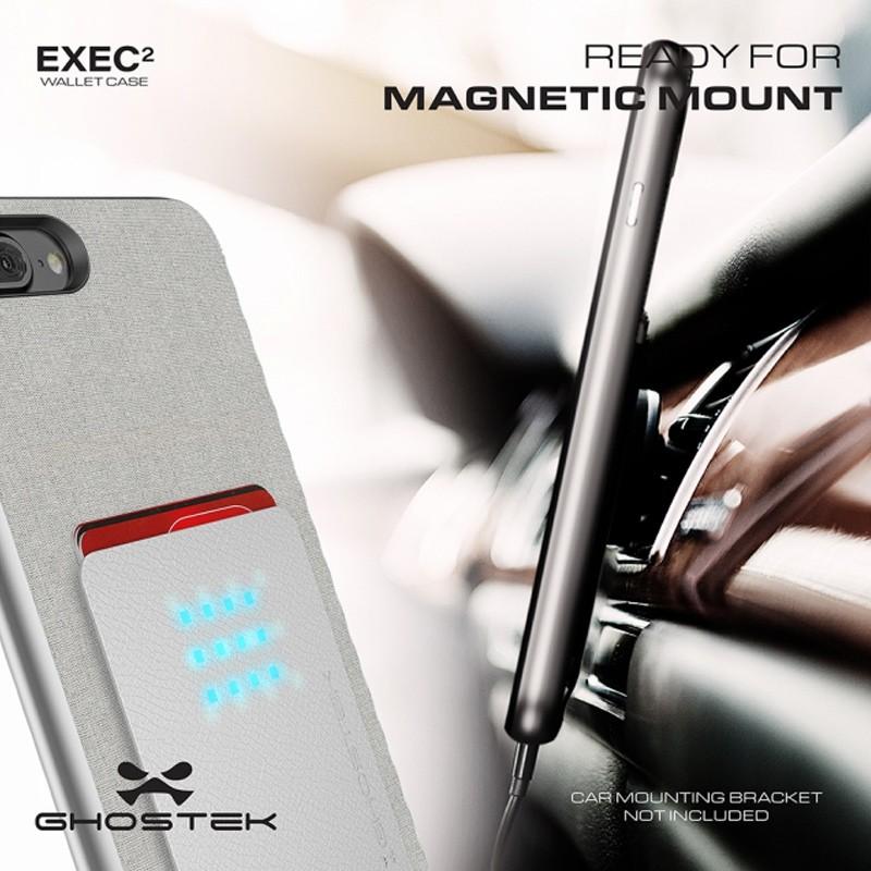 Ghostek Exec 2 Wallet Case iPhone 8 Plus/7 Plus Zilver 08