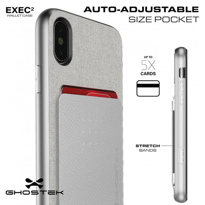 Ghostek Exec 2 Wallet Case iPhone X/Xs zwart 04