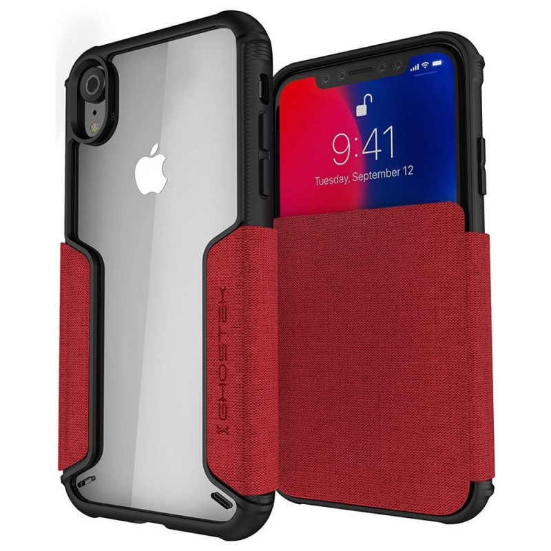 Ghostek Exec 2 iPhone XR Wallet Rood/Transparant - 1