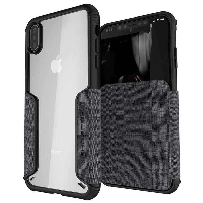 Ghostek Exec 3 Wallet iPhone XS Max Grijs - 1