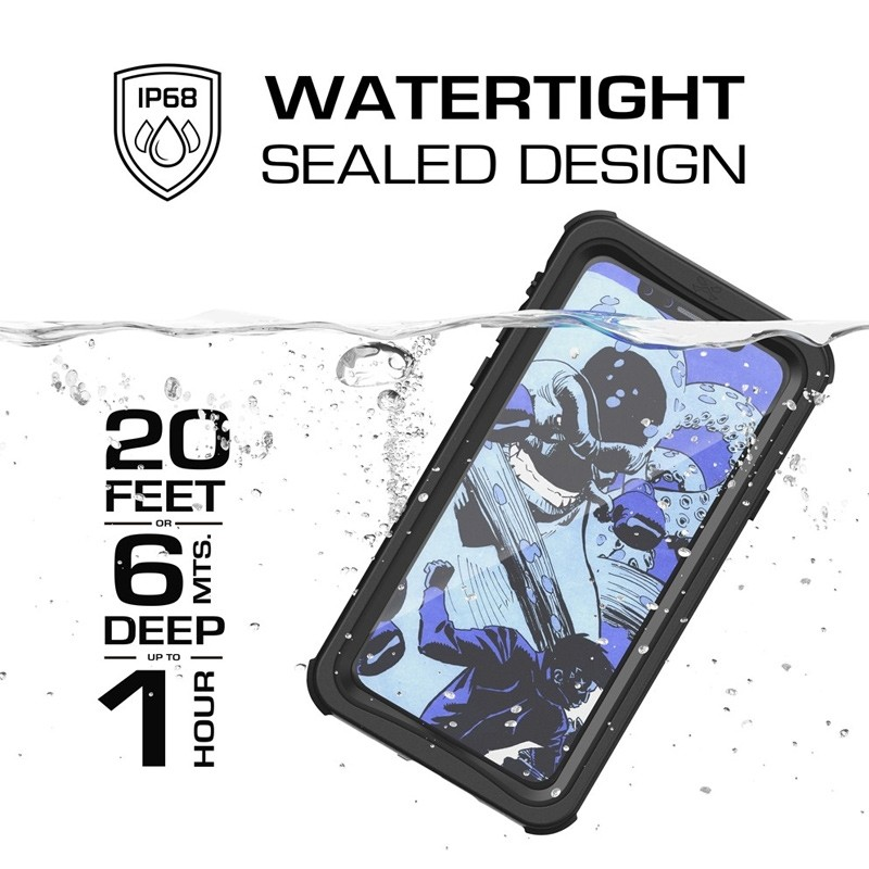 Ghostek Nautical Waterdicht iPhone X/Xs hoesje Zwart 09