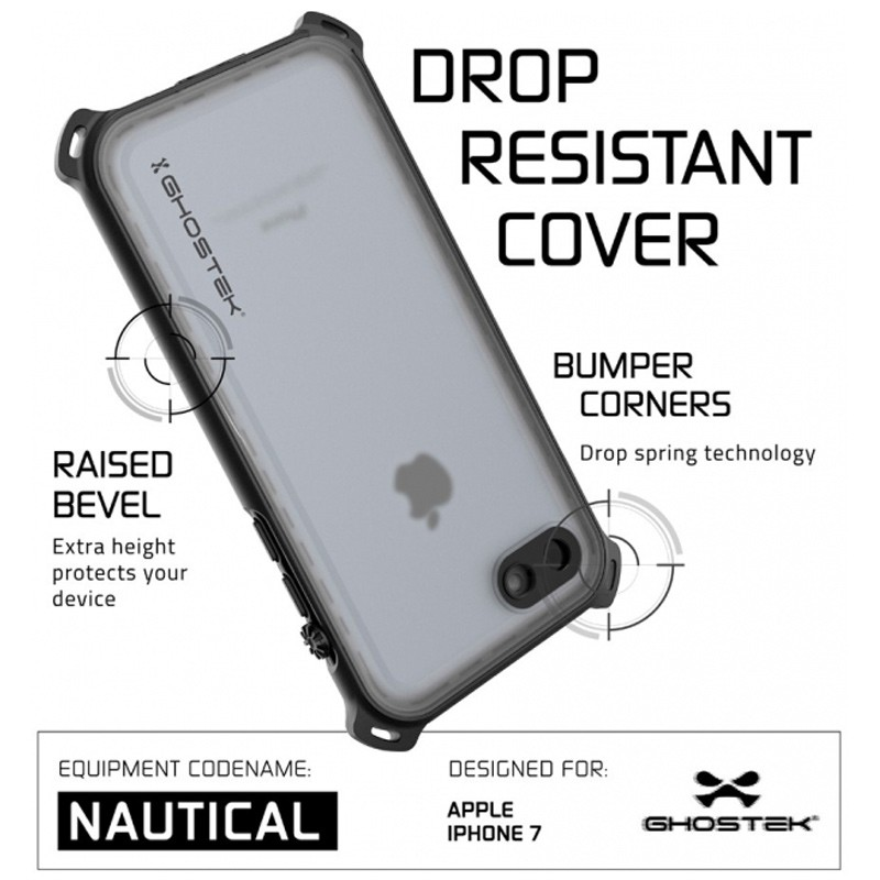 Ghostek - Nautical Waterdicht iPhone 7 hoesje Black 06