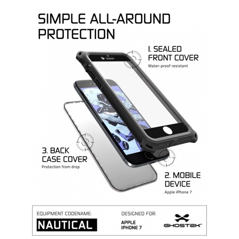 Ghostek - Nautical Waterdicht iPhone 7 hoesje Black 07