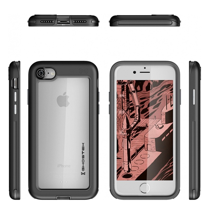 Ghostek Atomic Slim Rugged Case iPhone 8/7 zwart / transparant 02
