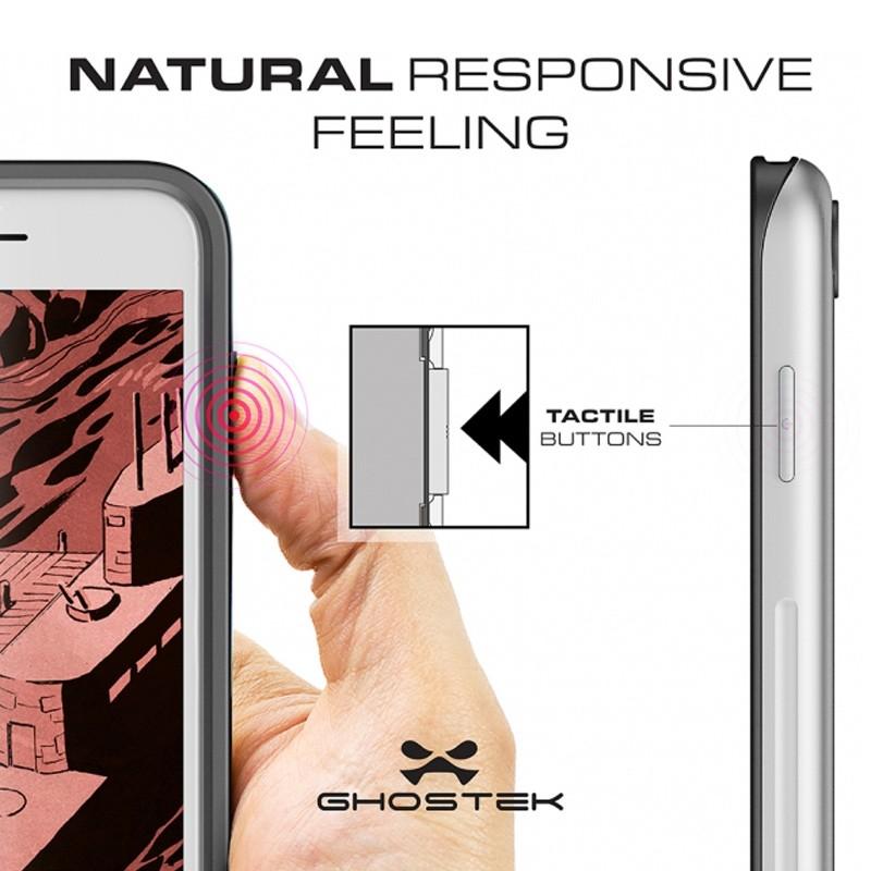 Ghostek Atomic Slim Rugged Case iPhone 8/7 rood / transparant 06