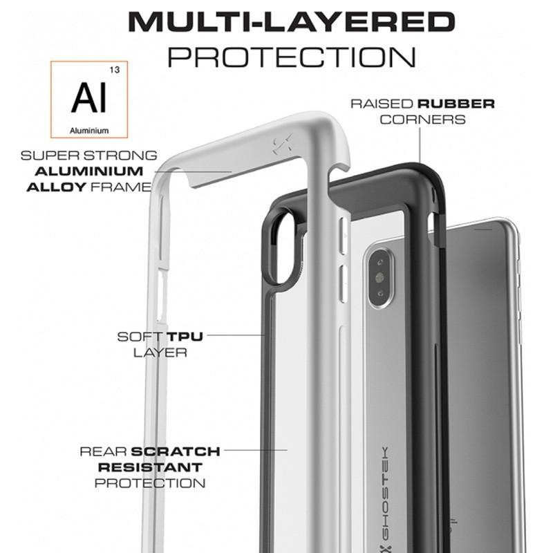 Ghostek Atomic Slim Case iPhone X/Xs Zilver 05