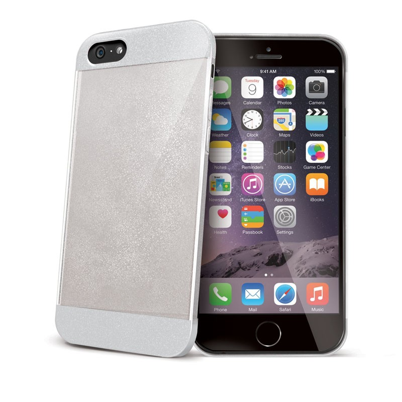 Celly Glitty iPhone 6 Plus White/Clear