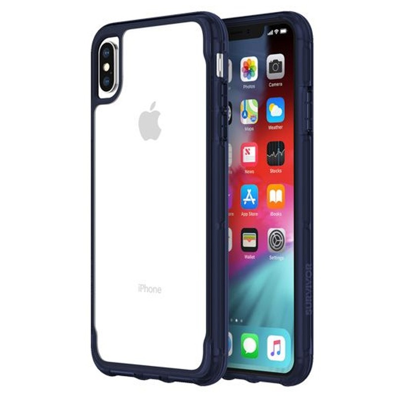Griffin Survivor Clear iPhone XS Max Hoes Iris/Transparant 04
