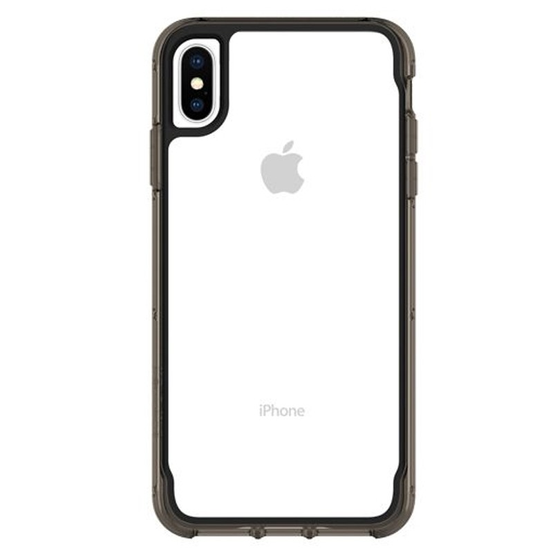 Griffin Survivor Clear iPhone XS Max Hoes Zwart Transparant 01