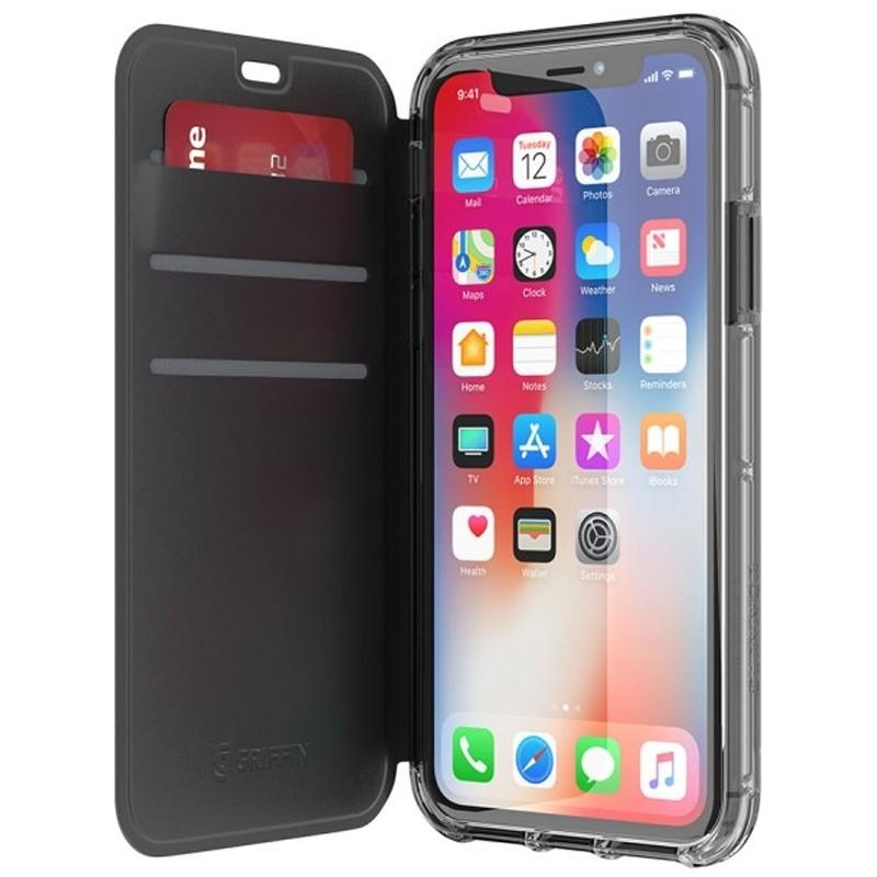 Griffin - Survivor Clear Wallet iPhone X/Xs Zwart Transparant 01