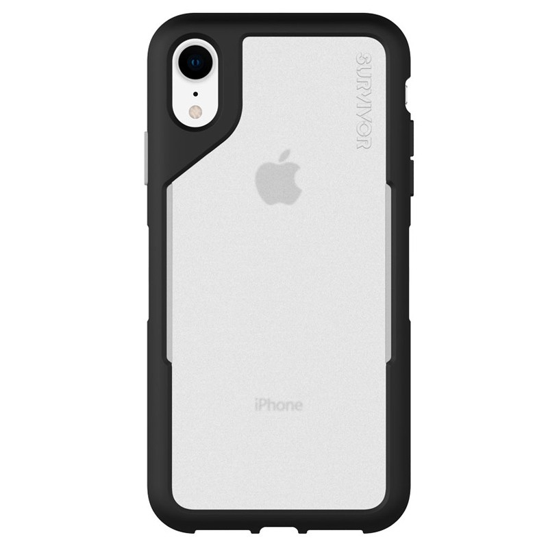 Griffin Survivor Endurance iPhone XR Case Zwart Grijs 02