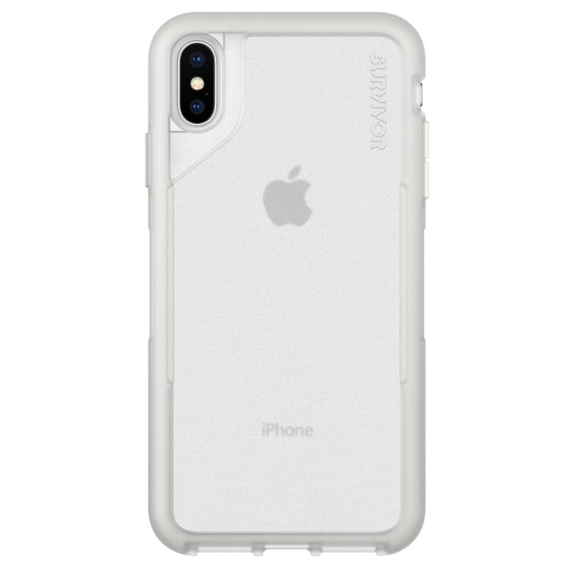 Griffin Survivor Endurance iPhone XS Max Case Grijs Transparant 01
