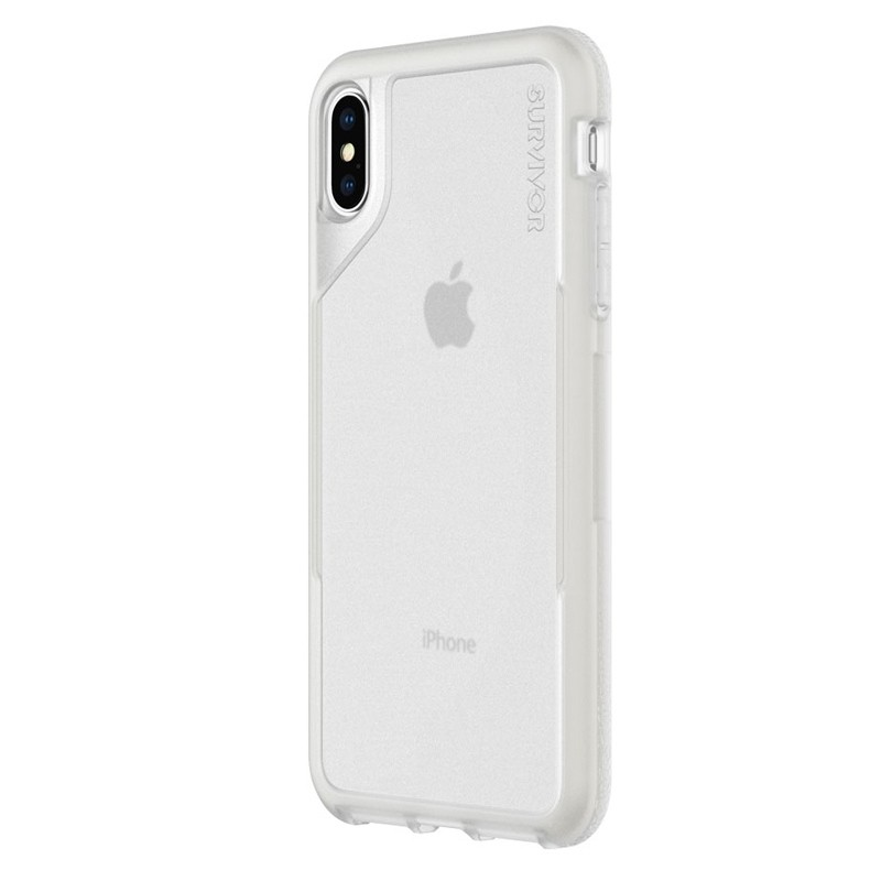 Griffin Survivor Endurance iPhone XS Max Case Grijs Transparant 03