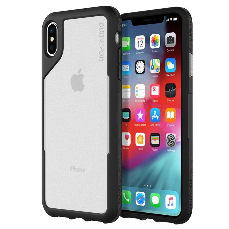 Griffin Survivor Endurance iPhone XS Max Case Zwart/Transparant 04