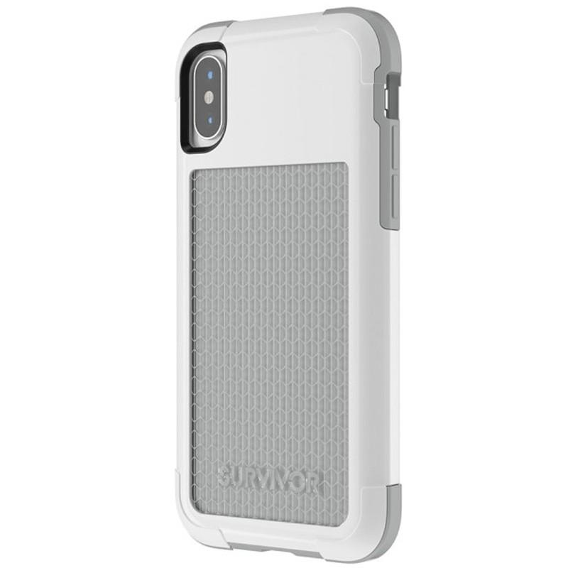Griffin - Survivor Fit iPhone X/Xs Case Wit/Grijs 01