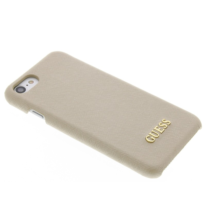 Guess - Saffiano Case iPhone 7 Beige 03