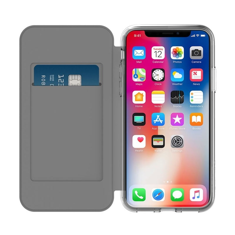 Incipio NGP Folio iPhone X/Xs Zwart/Transparant - 3