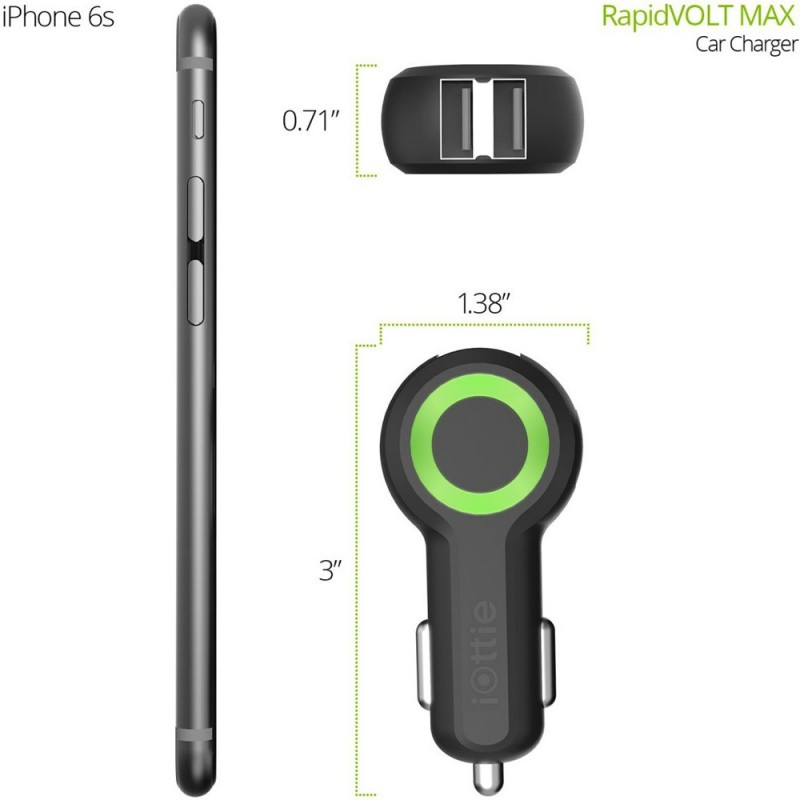 iOttie RapidVOLT Max Dual USB Autolader - 5