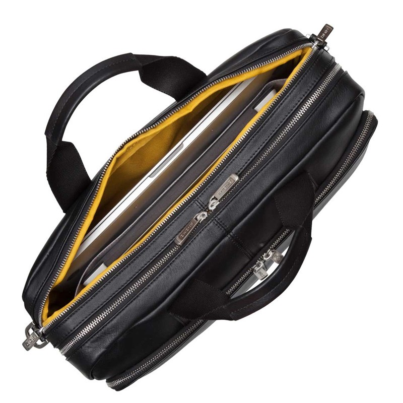 Knomo - Amesbury Lederen 15 inch Laptoptas Black 04
