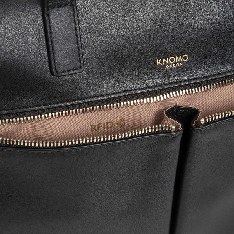Knomo - Audley 14 inch Slim Laptoptas Black 06