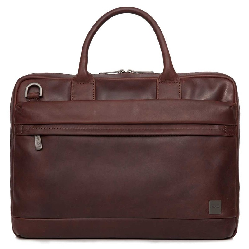 Knomo - Barbican Foster 14 inch Laptoptas Brown 02