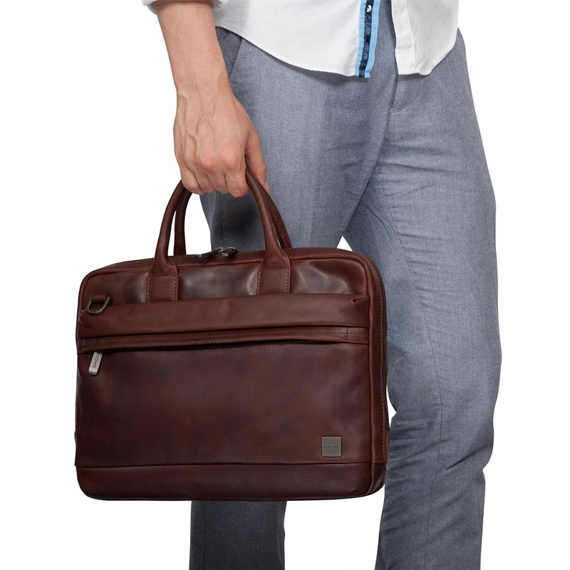 Knomo - Barbican Foster 14 inch Laptoptas Brown 07